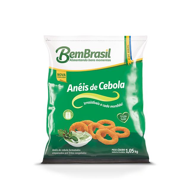 ANEIS DE CEBOLA EMPANADOS BEM BRASIL 1,05KG