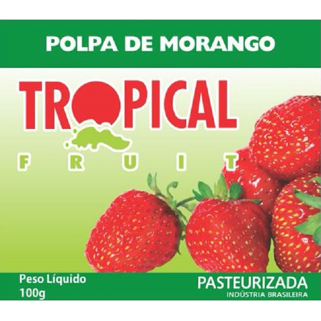 POLPA MORANGO TROPICAL 100G