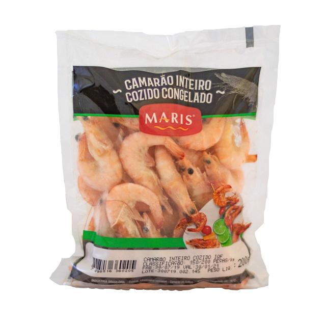 CAMARAO INTEIRO COZIDO 150/200 MARIS 200G
